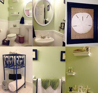 Coastal Make Over For A Powder Room On A Budget Bathroom