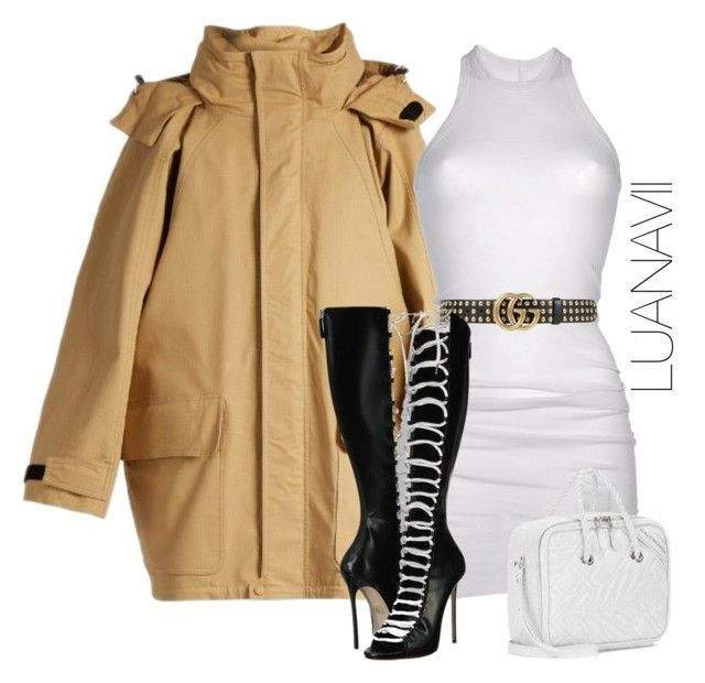 """Senza titolo #925"" by luanavii ❤ liked on Polyvore featuring Balenciaga, DRKSHDW, Gucci and Dsquared2"