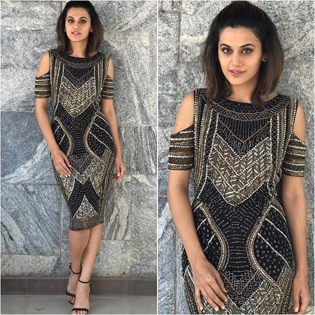 @taapsee  Dress - @platinoir  Styled by - @devs213  #bollywood #style #fashion #beauty #bollywoodstyle #bollywoodfashion #indianfashion #celebstyle #taapseepannu #platinoir