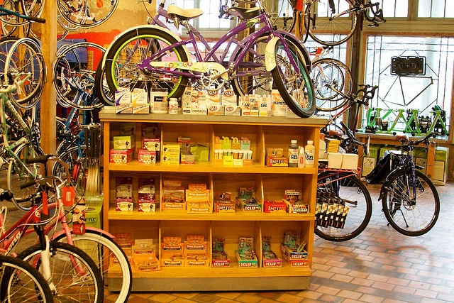 Mock Orange Bikes by arsbars, via Flickr