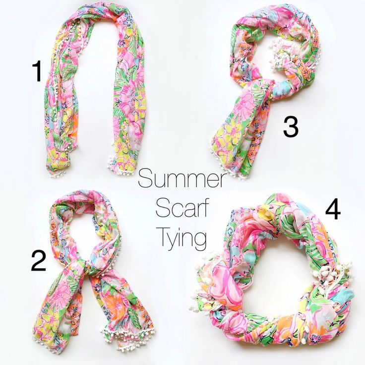 The summer scarf tying method