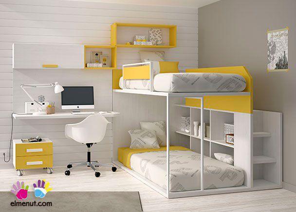 Habitación Infantil: Dormitorio Infantil con Litera 303-592014   Dormitorio Infantil con Litera.Los elementos que integran la presente composición son los sig