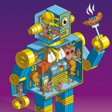 """Robôs, animais, deusas e veículos legais. Esses são os trabalhos de Rod Hunt. Ele também tem projetos menos """"loucos"""". Rod Hunt é um ilustrador de Londres"""