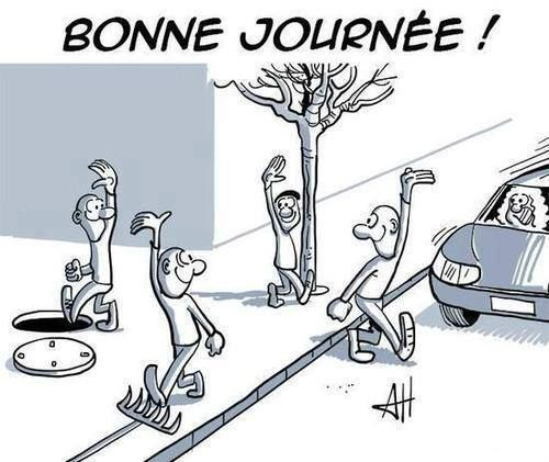 Le futur proche - ask students what is about to happen to the four characters in the picture