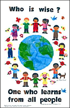diversity quotes for children | ... who learns from all people (children holding hands around the world