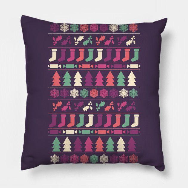Christmas pillow by Fimbis     __________________  Xmas, home decor, festive, pattern, interior design, fashion, happy holidays,
