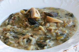 μυρίζει μανούλα...: Μαγειρίτσα με μανιτάρια