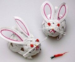 Mizuhiki Bunnies...just adorable