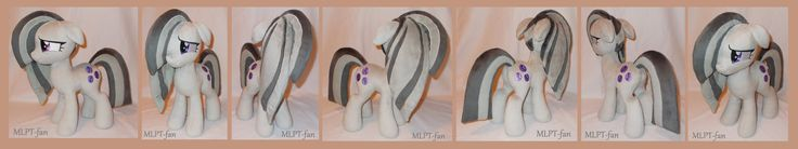 "Marble Pie is commission for and not for sale! Approx. 41cm tall (16""), made out of Shannon minky fabrics with machine embroidered eyes and cutie marks. Updated body pattern!"