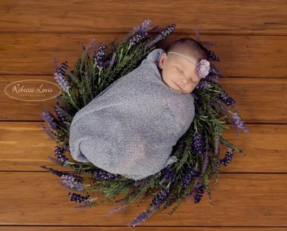 Lavender Wreaths beautiful newborn photography prop idea.  www.becspropshop.bigcartel.com