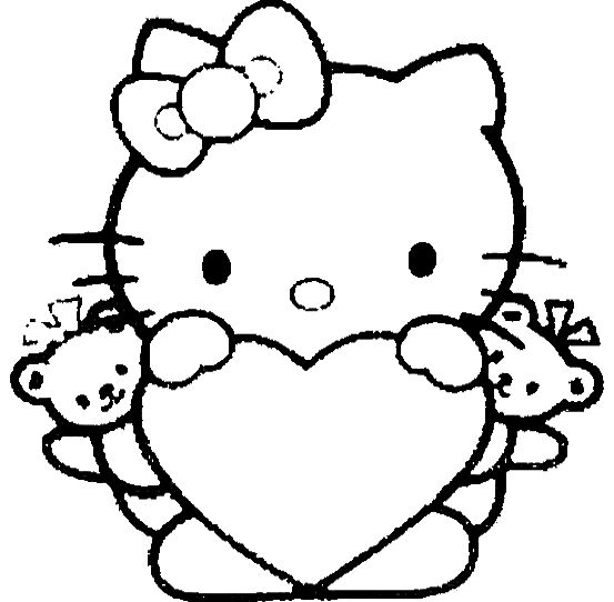 Hello Kitty Coloring Pages With Crayons : Hello kitty is great and love coloring page