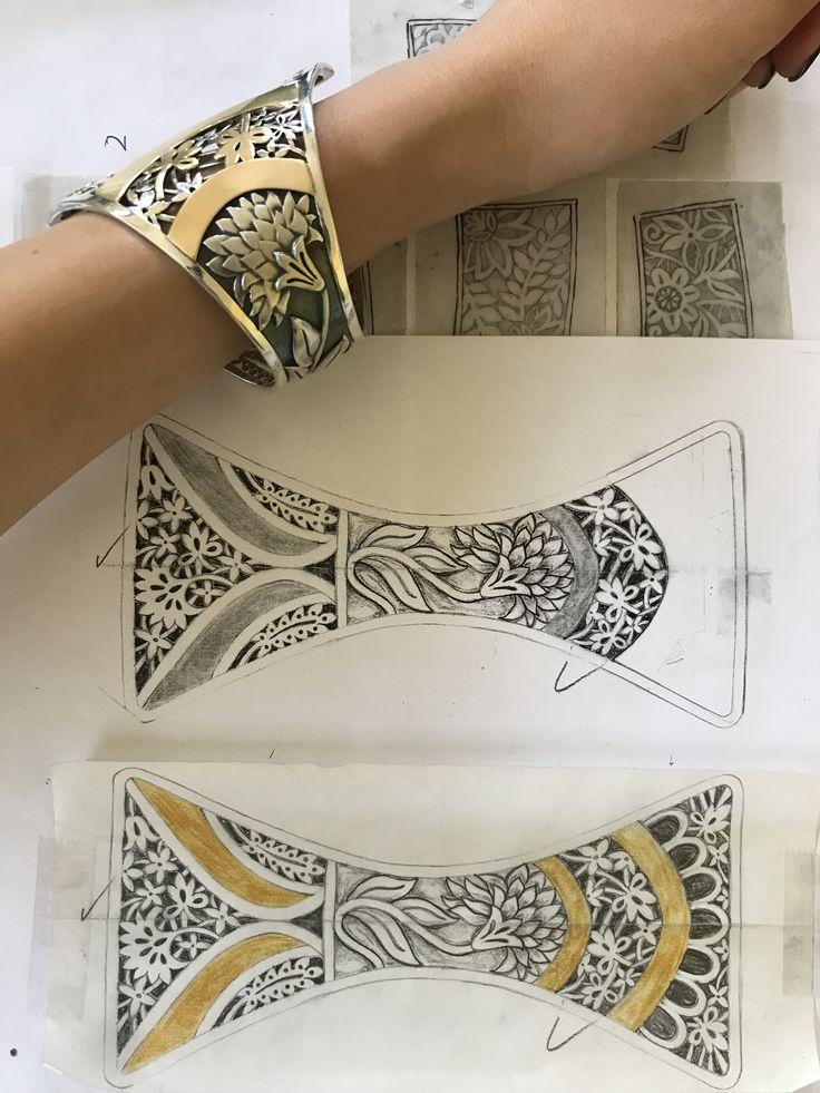 Reinterpreting the floral patterns that decorate Imazighen women's garments into hand-pierced motifs. #Gypsy