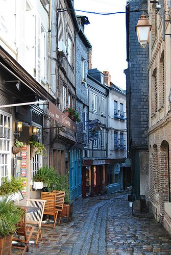 Honfleur, Normandie, France--we had hot cocoa in one of the cafes on the left. Happy memories of a little Eli holding a mug as big as his head!