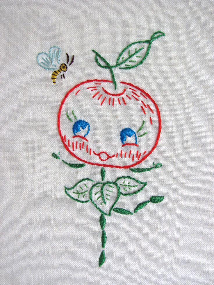 Carita de manzana prt52/embroidery-kitchen/ 310 pins      back!