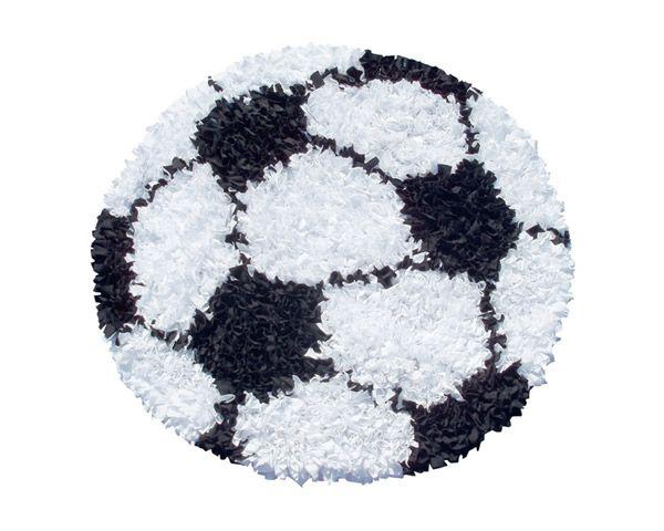 Soccer Ball Shaggy Raggy Rug Super Soft Rug Ideal For A Nursery, Kids Room  Or