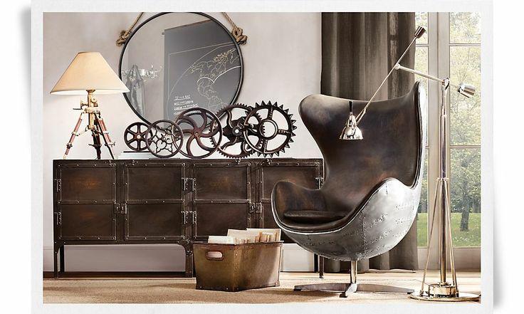 66 best images about steampunk furniture on pinterest for Restoration hardware furniture manufacturer