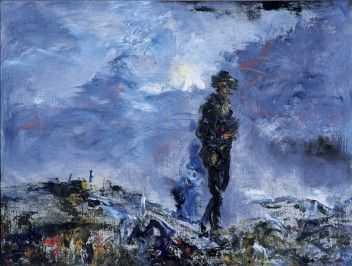 Jack B. Yeats | The Plank Road | 1955 | Oil on canvas | 18 x 24 in / 46 x 61 cm