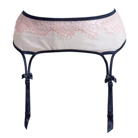 Pink Sheer Garter Belt #AkikoOgawa #Lingerie #2016AW  #SEDUCTION www.aolingerie.com