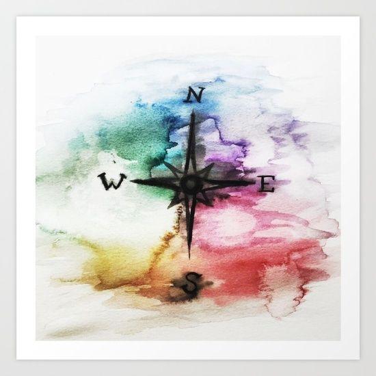 Moral Compass Art Print