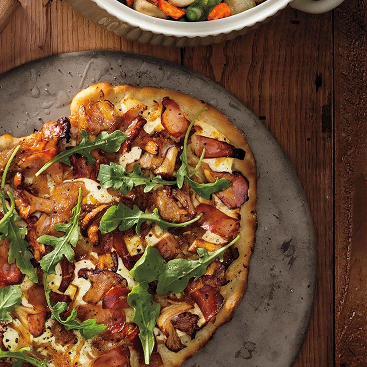 Mushroom Flatbread for a fun and healthy dinner!