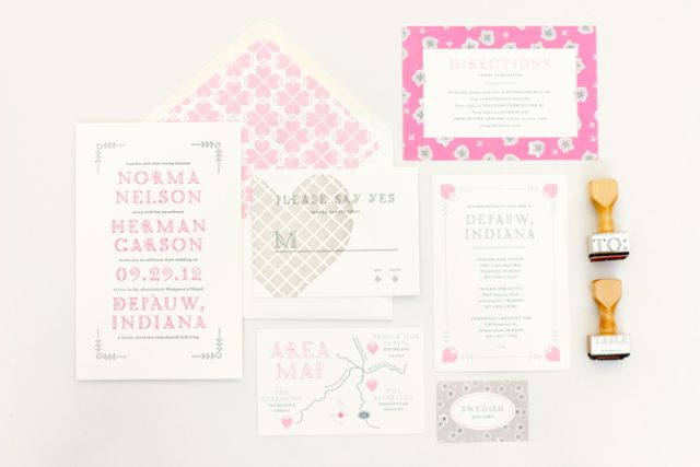 *~* Amazing design from Mae Mae PaperieWedding Invitations Suits, Pretty Paper, Hermie Suits, Graphics Design, Maemae Paperie, Hermie Collection, Paperie Stationery, Inspiration Wedding, Mae Mae