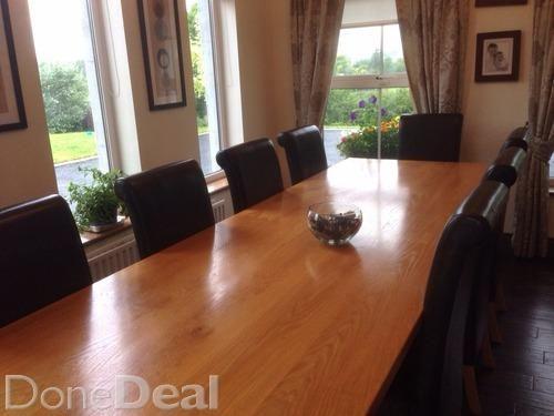 10ft solid oak table