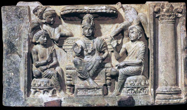 Shuddodana and the soothsayers interpreting Maya's Dream