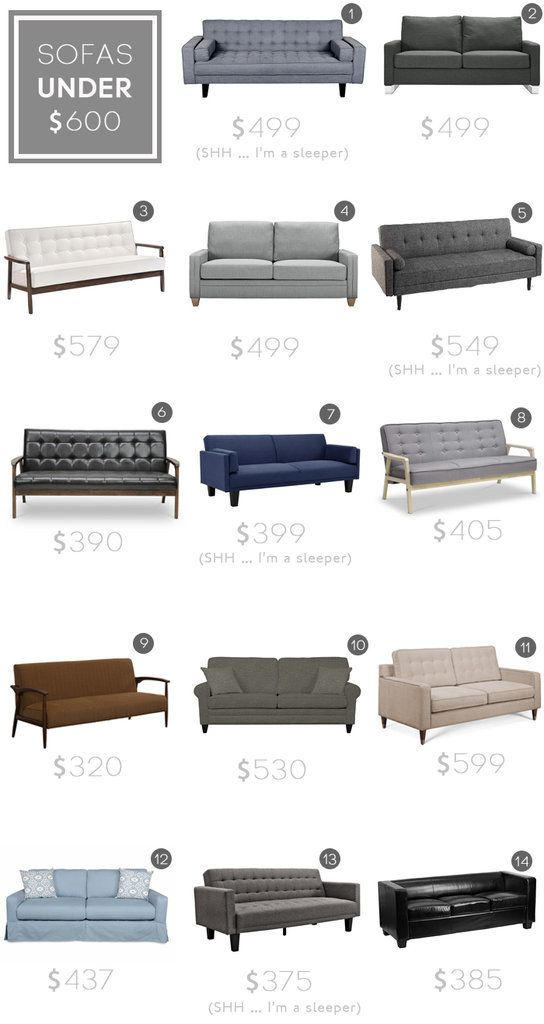 The sofas that Emily Henderson recommends for a stylish home.