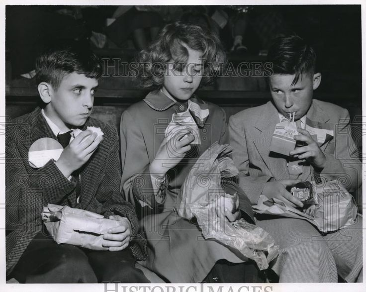 5/17/1956 Redwood School, Parma, Ohio. 5th graders Roger Uzelae, Kathy Havens, Robert Cotman