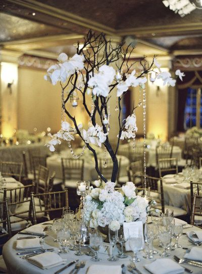 D coration mariage 10 centres de table hauts wedding nature and centerpieces - Centre de table cinema mariage ...