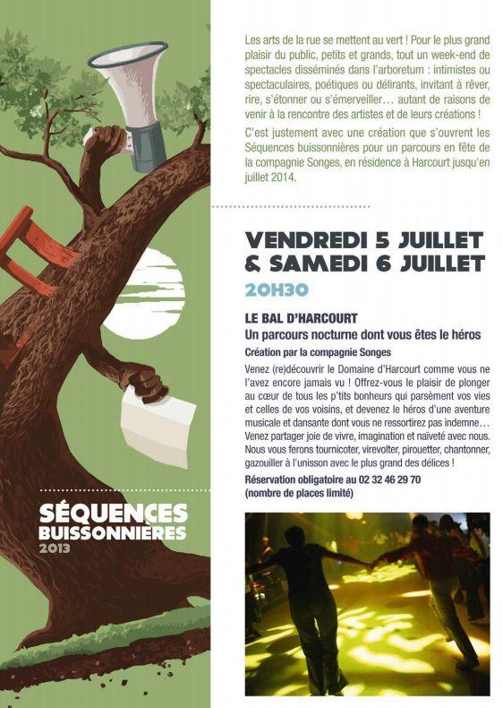 Le Bal d'Harcourt vendredi 5 et samedi 6 juillet 2013