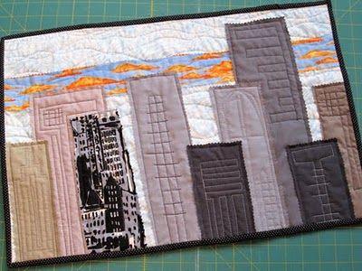 20 best City Skyline Art Quilt Inspiration images on Pinterest ... : quilt city - Adamdwight.com