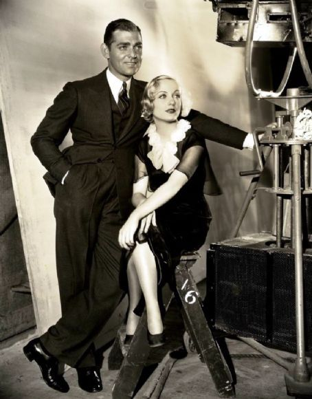 Clark Gable and the love of his life, Carole Lombard
