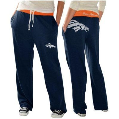 Denver Broncos Ladies Recruit Fleece Pants – Navy Blue   ....... ooooo I want these!!! ---- hint hint to anyone looking for Christmas/Birthday presents ;) ;)