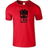 I Am Groot T-shirt des Femmes des Hommes Enfants unisexe Tee Top imprimé de couleurs Nouveau T-shirt et la taille ras du cou classique par SNS Online
