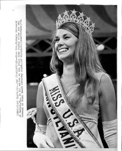 1971 Michelle McDonald Miss USA 1971 After Crowning