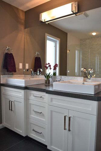 square shaped his and her sinks Master Bed&Bath Pinterest Pewter ...