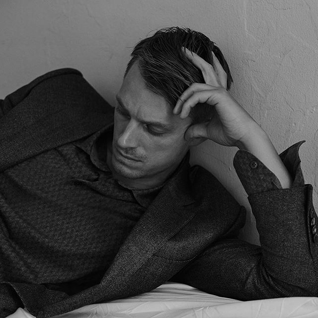 Actor Joel Kinnaman models the Fall Winter 2016 collection to mark the launch of the new partnership between Zegna and @MrPorterlive  Photo credit @blairgetzmezibov