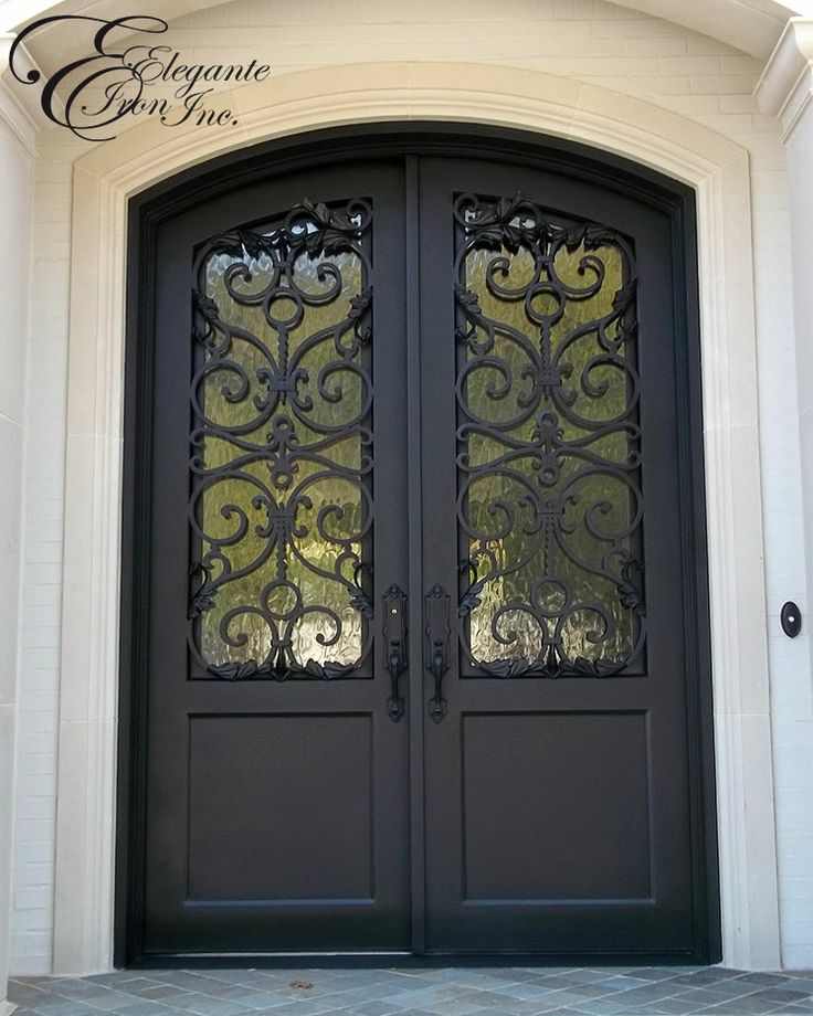 Custom wrought iron door (Drafting & Design by Kayla Bingham via Elegante Iron, Inc.)