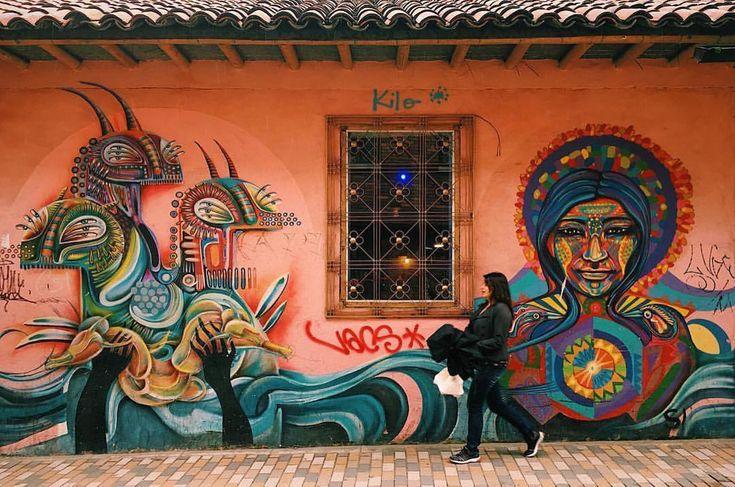 The history of Bogotá can be understood through its street art. Take a tour around the city and discover why #ColombiaisMagicalRealism. Photo: @alexandmadie 📸 La historia de Bogotá puede entenderse a través de su arte callejero. Haz un recorrido por la ciudad y descubre por qué #ColombiaEsRealismoMágico #Colombia #Travel #Amazing #Backpacker #Tourist #Tourism #Landscapes #IgersColombia #Colombia_GreatShots #Instatravel #Travelgram #PicOfTheDay #WanderLust #BestPlacesToGo #NatGeoTravel…