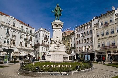 central square of Coimbra, Portugal.