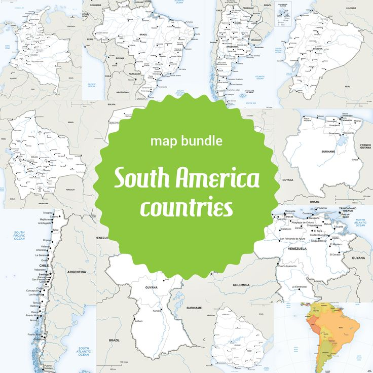 Best Maps Of South America Continent Regions Countries - Argentina map for sale