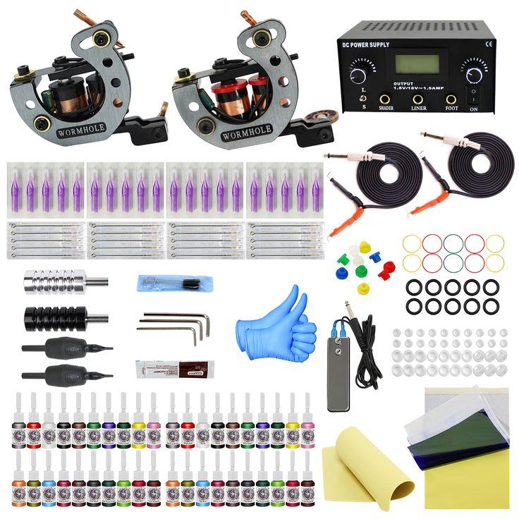 Complete tattoo kit 40 inks tattoo machine kits tattoo