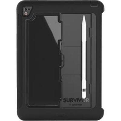 "Griffin Survivor Slim Durable Protector Case Apple iPad Pro 9.7"" in black. Features drop and screen protection, no need to worry with this rugged protector case. Shipped within Canada."