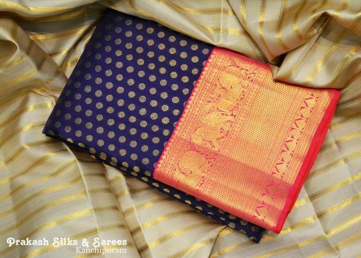 Beautiful kanchipattu Saree with butta
