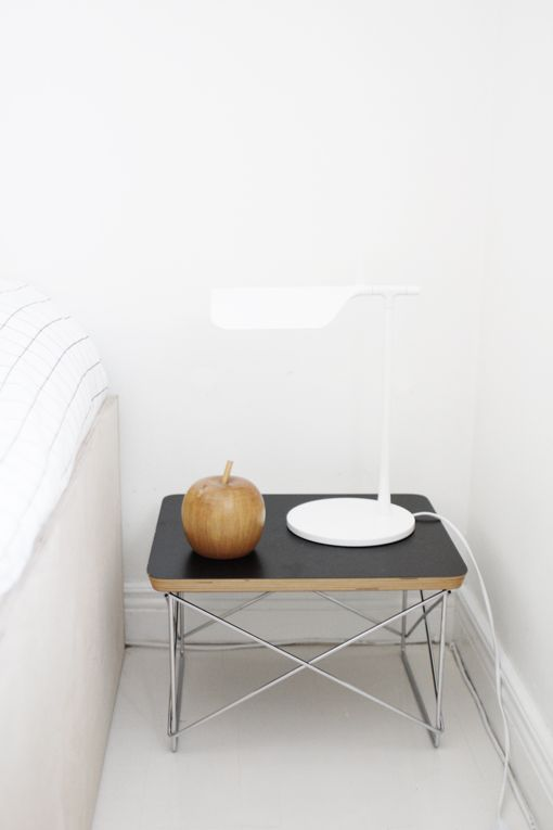 Eames LTR table. Tab lamp, FLOS.