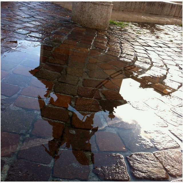 Vittorio emanuele rain sculture