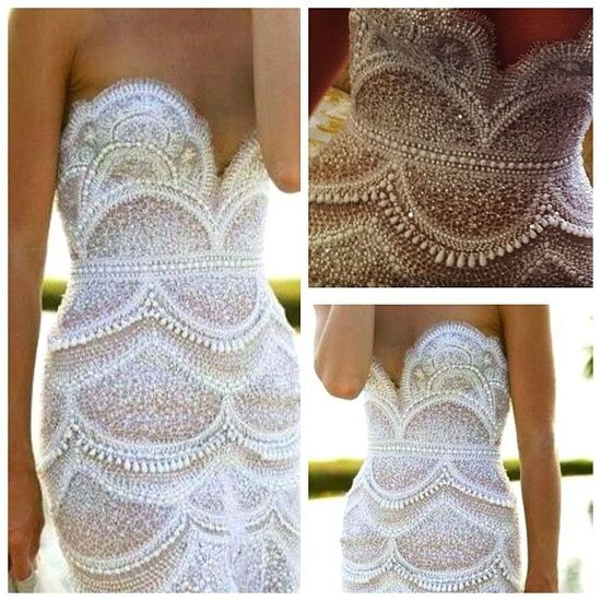 Sexy, textured wedding gown.