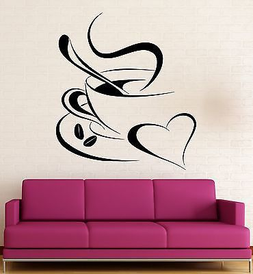 Vinyl Decal Coffee Break Romantic Coffee Shop Kitchen Café Wall Sticker Restaurant Decoration (ig2321)