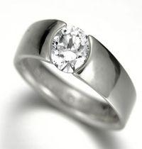 spesifikasi  : bahan ( palladium ) berat ( 5 gram ) berlian ( 0,10 ct ) 1 butir harga ( Rp 2.800.000,- ) FREE grafir nama & kotak